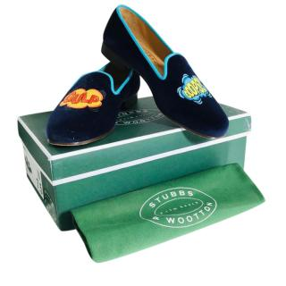 Stubbs & Wootton Hand Made Velvet Slippers