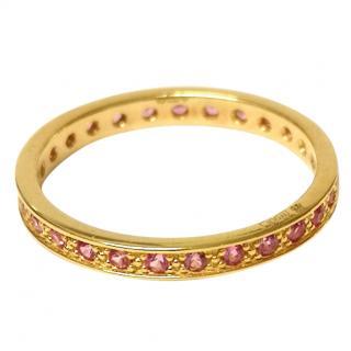 Clogau Full Hoop Tourmaline Eternity Ring Welsh Gold