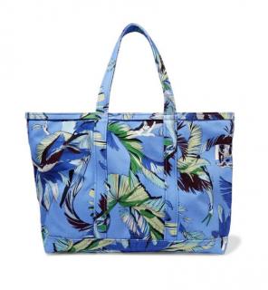 Emilio Pucci Large Floral Print Canvas Tote Bag