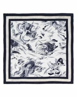 Gucci Sea Storm print silk pocket square