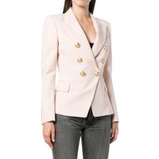 Balmain classic double-breasted pale pink blazer
