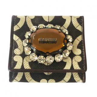 Miu Miu jewelled coin purse wallet