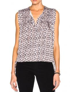 Isabel Marant Etoile Harvey pleated printed blouse