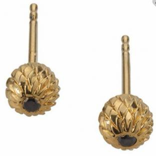 Noritamy Black Diamond Acorn Earrings