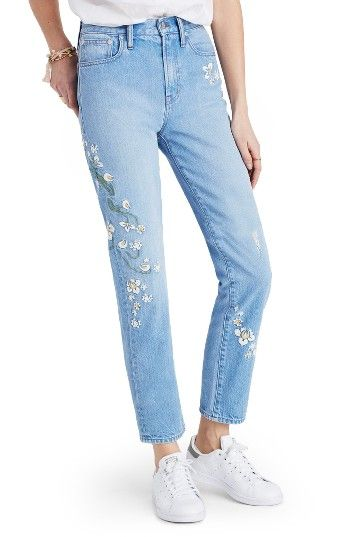 Madewell Perfect Summer Floral Embroidered Jeans