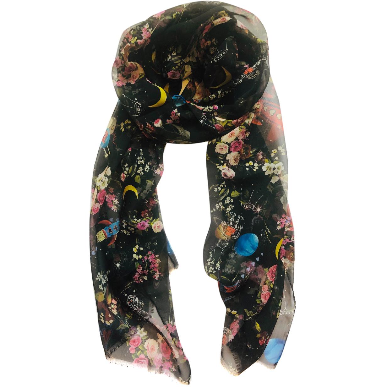 Dolce & Gabbana silk black space & love scarf