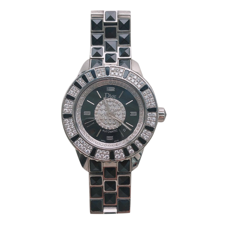 Christian Dior Christal 33mm Stainless Steel & Diamond Watch