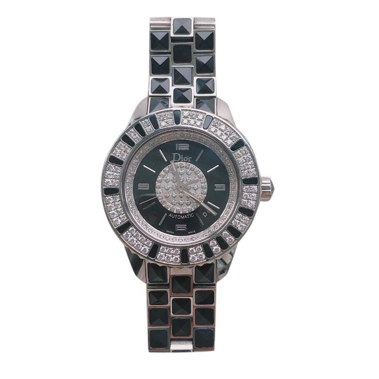 Christian Dior Christal 33mm Stainless Steel & Diamond Watch
