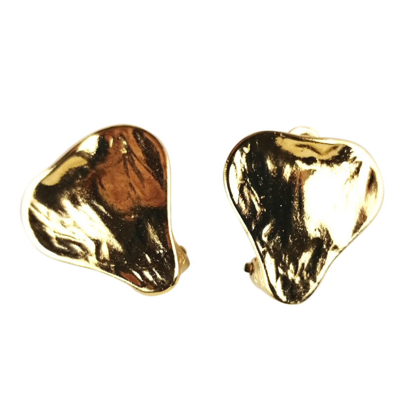 Yves Saint Laurent Vintage gold plated clip on earrings