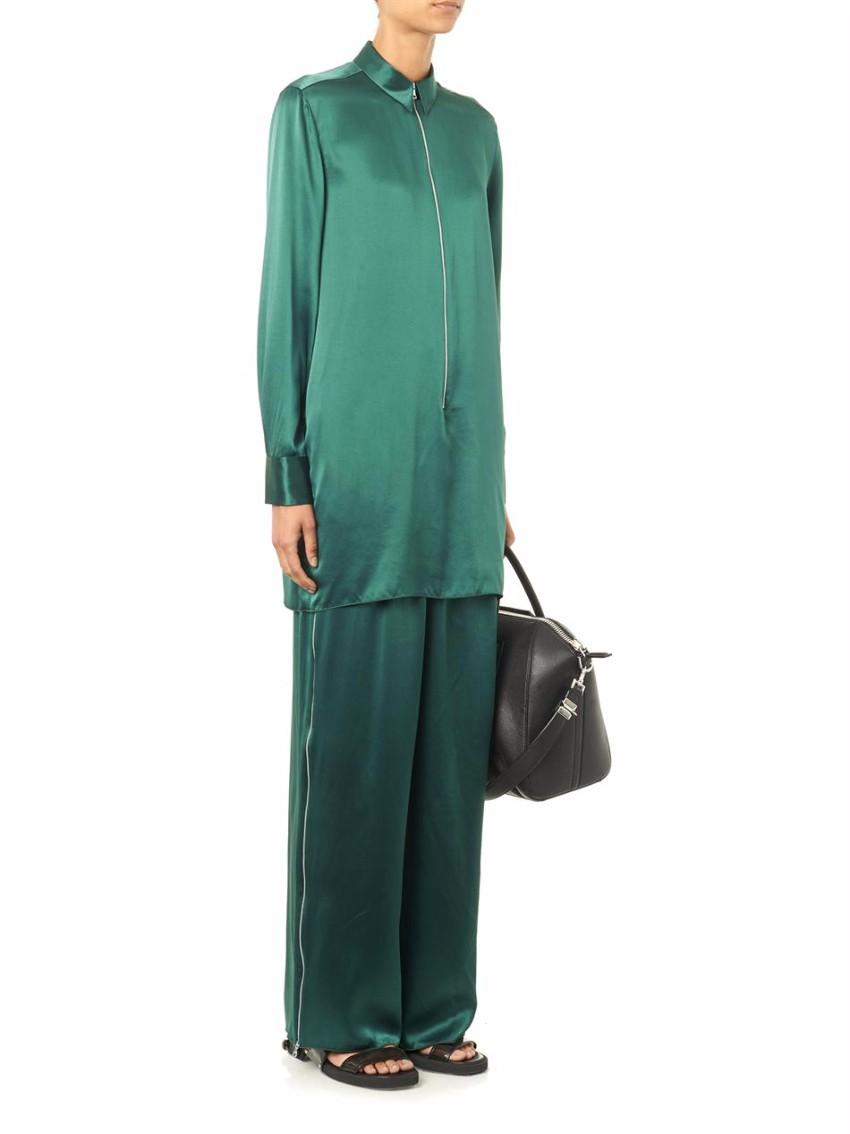 Acne Studios Silk Satin Tunic & Trousers Set