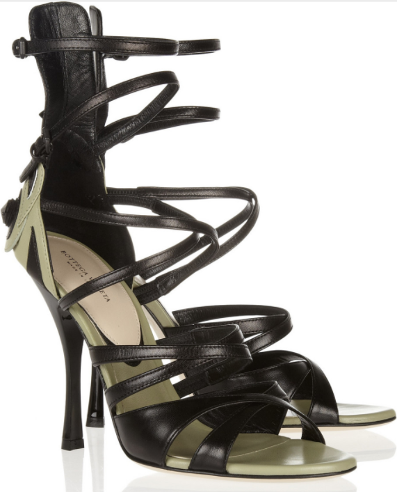 Bottega Veneta Appliqued Leather Sandals
