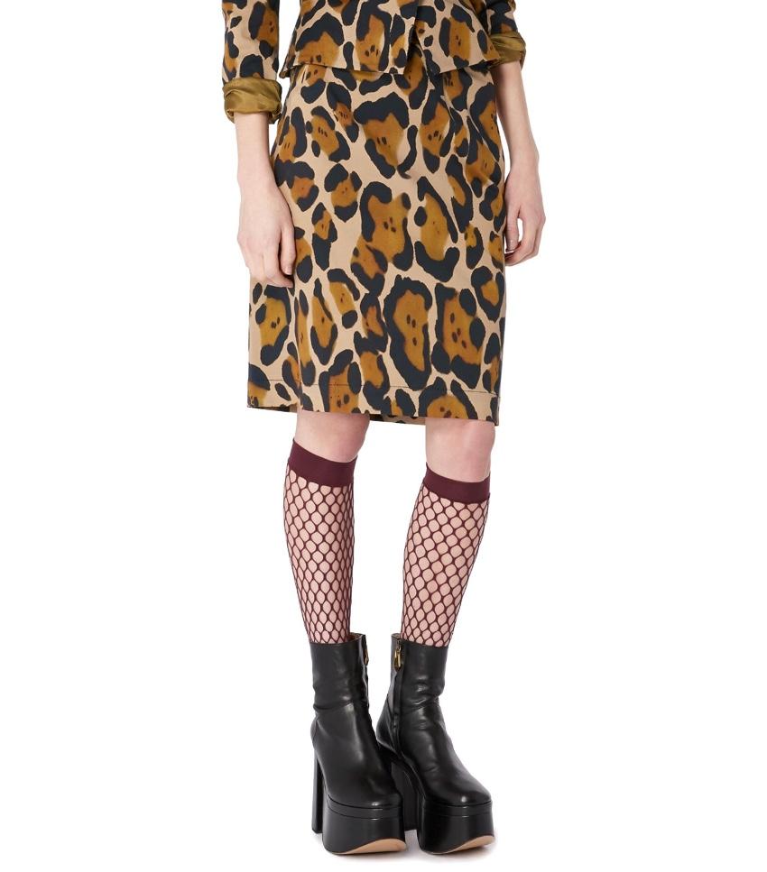 Vivienne Westwood Anglomania Leopard Print Mini Pencil Skirt