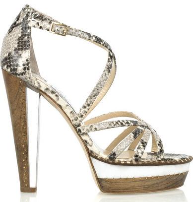 Jimmy Choo Zena snake-print leather sandals