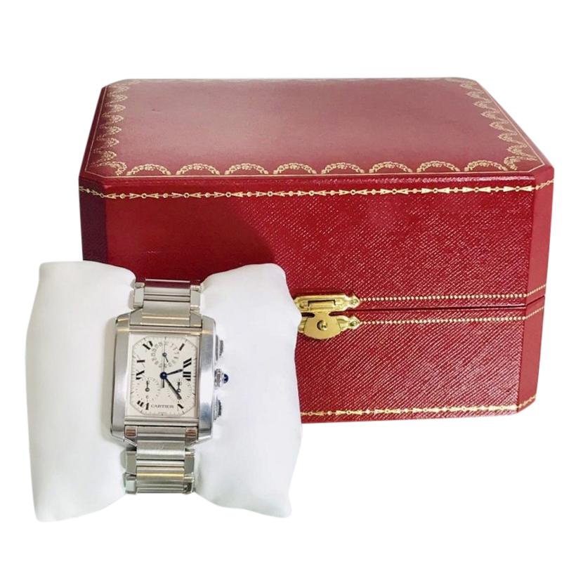 Cartier Chronograph Large Model Tank Francais