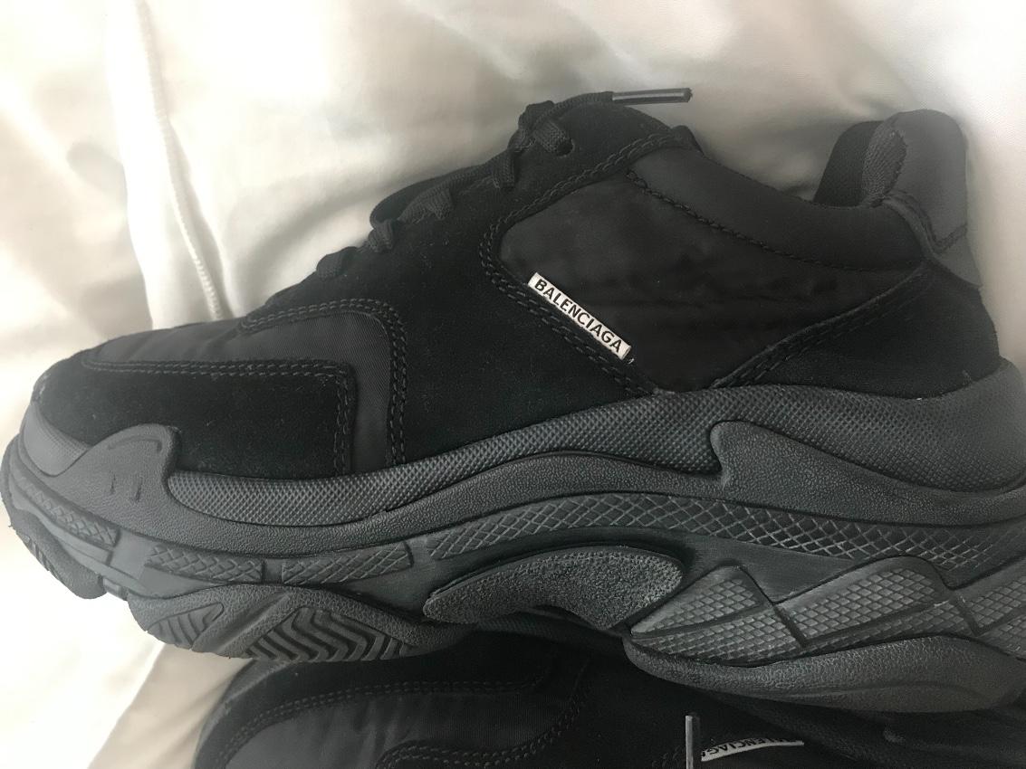 Balenciaga Black Velvet Triple S