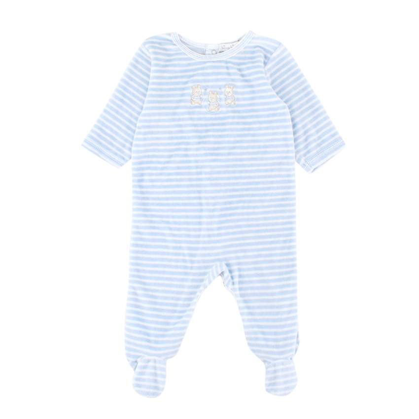 Kissy Kissy 3-6 Months Striped Velour Baby Grow
