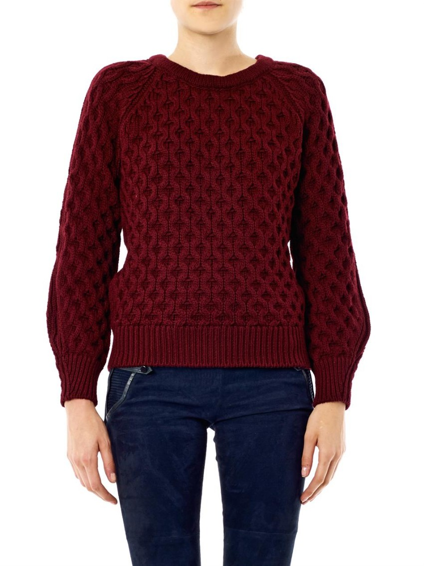 Isabel Marant 'Noreen' Textured Knit Sweater