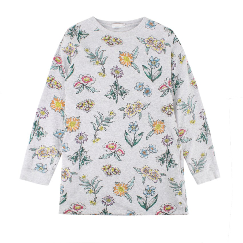 Stella McCartney Kids Grey Floral Sweatshirt