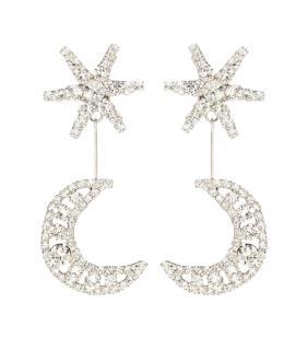 Jennifer Behr Crystal Crescent Stud Earrings