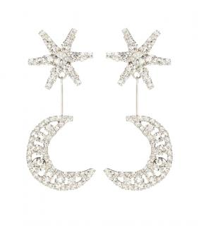 Jennifer Behr Crystal Crescent Stud Earrings
