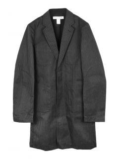 Comme des Garcons SHIRT oversized striped cotton coat