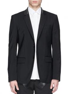 Givenchy Men's Black Zip Collar Blazer