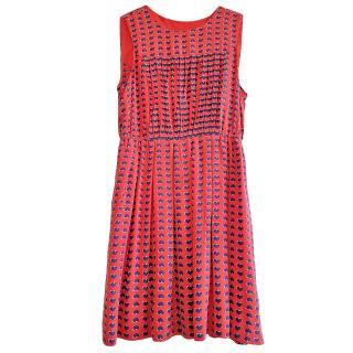 Marc by Marc Jacobs Printed Silk Mini Dress