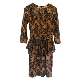 Ganni lace mid length dress