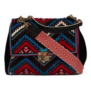 Carolina Herrera Embroidered Baret Bag
