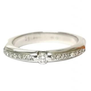Bespoke Tension Diamond 18ct White Gold Ring