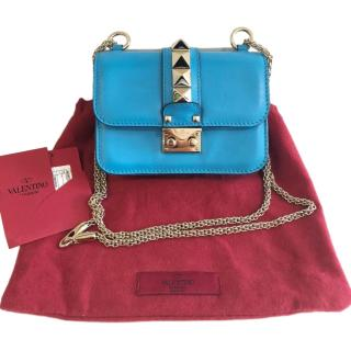 Valentino Small Blue Lock Shoulder Bag