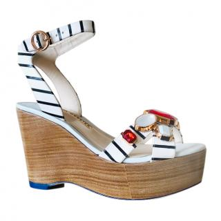 Sophia Webster Nautical Embellished Amanda Wedges