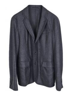 Z Zegna wool regular single breasted blazer