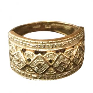 Vintage Yellow Gold Diamond Ring