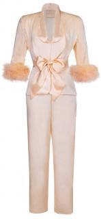 Maguy de Chadirac Peach Marabou Feathered Pyjama