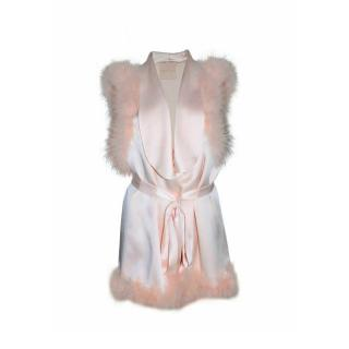 Maguy de Chadirac Feather-Trimmed Short Dressing Gown