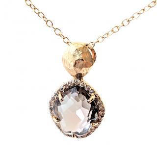 Vianna Brasil Exclusive Design Quartz and Diamond Pendant