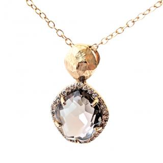 Vianna Brasil Exclusive Design Quartz and Diamond Pendant