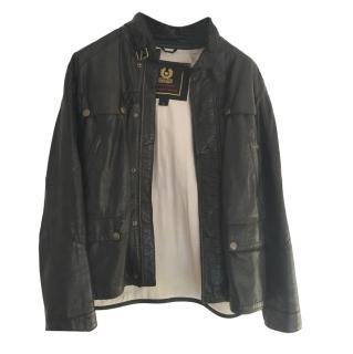 Belstaff mens black leather jacket