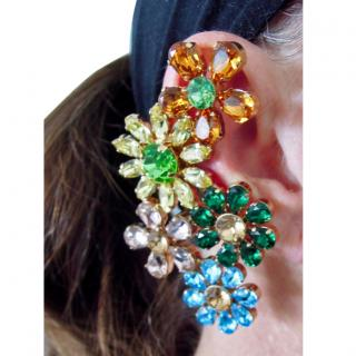 Dolce & Gabbana crystal earrings ear cuff floral