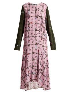 Preen Line Rowen Vine And Floral Print Crepe Dress
