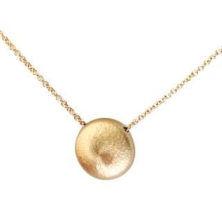 Bespoke 14k Gold Two Sided Minimalist Pendant and Chain
