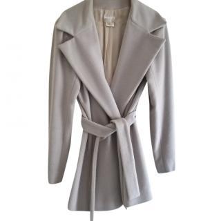 Agnes B Oyster Grey Short Belted Coat