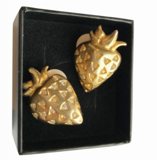 Givenchy 'Strawberry'� Crystal Vintage Earrings