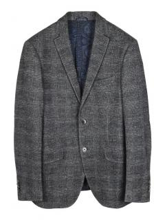Etro check Alpaca and silk regular singled breasted blazer