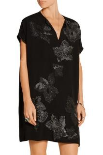Diane Von Furstenberg Kora embellished crepe de chine mini dress