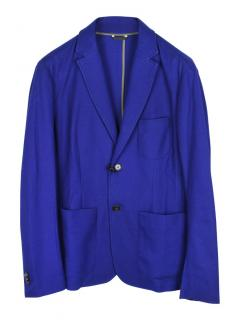 Z Zegna regular single breasted cotton blazer