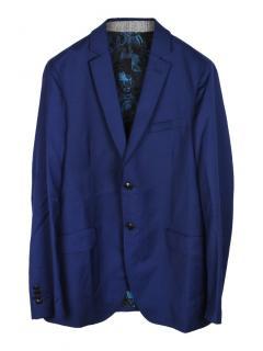 Etro wool regular fit single breasted blazer