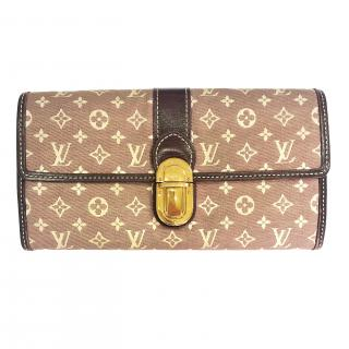 Louis Vuitton Monogram Mini Lin Long Wallet