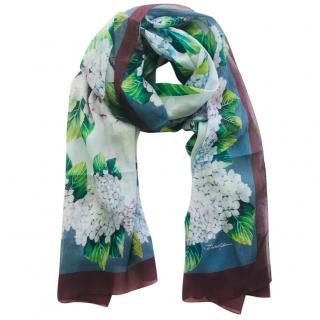 Dolce & gabbana Hydrangea print silk scarf